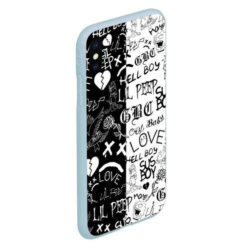 Чехол для iPhone XS Max матовый LIL PEEP LOGOBOMBING Фото 01