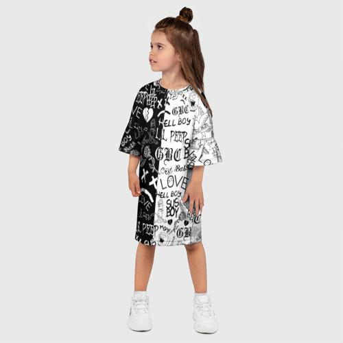 Детское платье 3D LIL PEEP LOGOBOMBING Фото 01