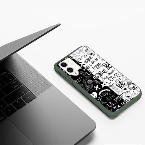 Чехол для iPhone 11 матовый LIL PEEP LOGOBOMBING Фото 01