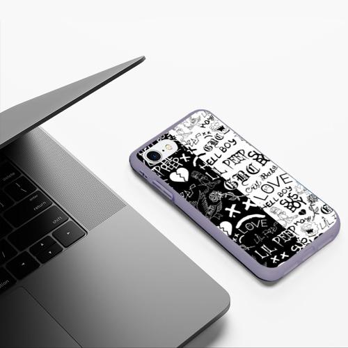 Чехол для iPhone 7/8 матовый LIL PEEP LOGOBOMBING Фото 01