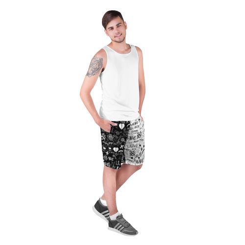 Мужские шорты 3D LIL PEEP LOGOBOMBING Фото 01
