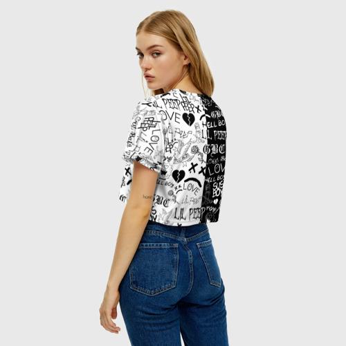 Женская футболка Crop-top 3D LIL PEEP LOGOBOMBING Фото 01