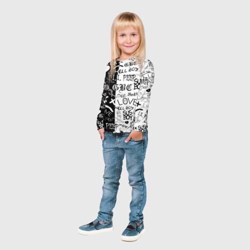 Детский лонгслив 3D LIL PEEP LOGOBOMBING Фото 01
