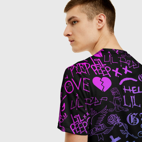 Мужская футболка 3D LIL PEEP LOGOBOMBING Фото 01