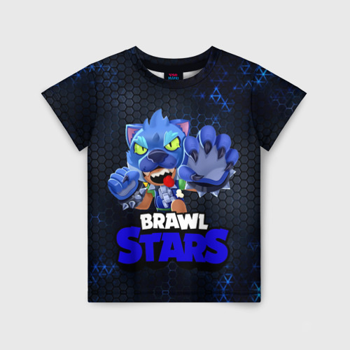 Детская футболка 3D Brawl Stars Blue Hex 128 фото