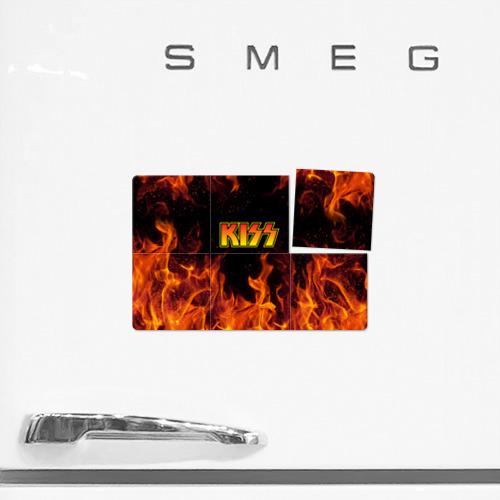 Магнитный плакат 3Х2 KISS FIRE / КИСС ОГОНЬ Фото 01