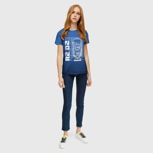 Женская футболка 3D R2-D2 Фото 01