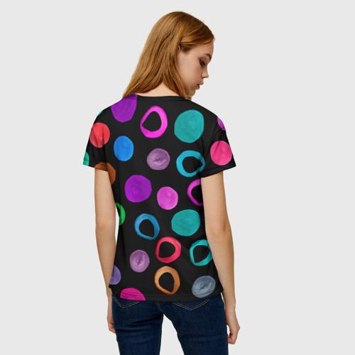 Женская футболка 3D Влюбленные кактус и шарик Фото 01