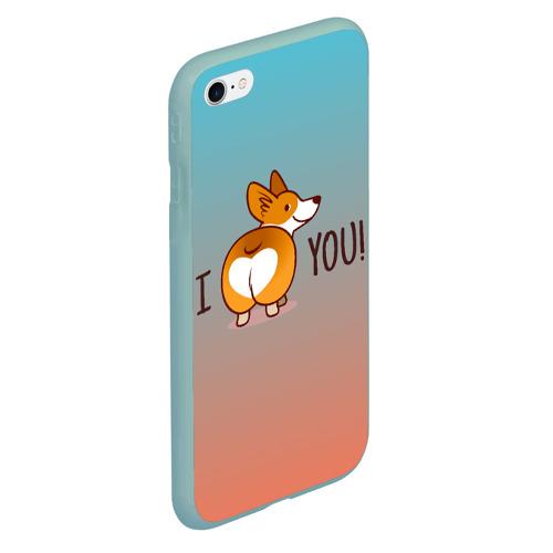 Чехол для iPhone 6/6S матовый i love you! Фото 01