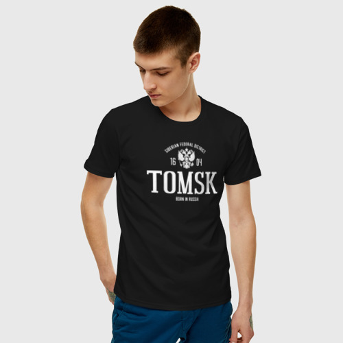 Мужская футболка хлопок Томск. Born in Russia Фото 01