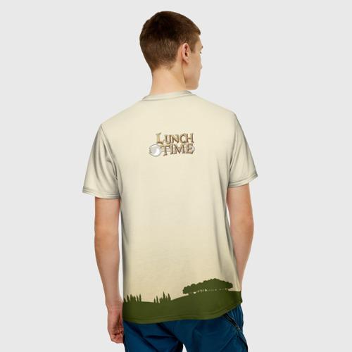Мужская футболка 3D Lunch time Фото 01