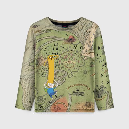 Детский лонгслив 3D Adventure time. Map Фото 01
