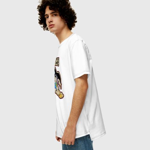 Мужская футболка хлопок Oversize Время приключений Фото 01