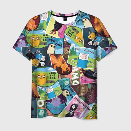 Мужская футболка 3D Время Приключений Фото 01
