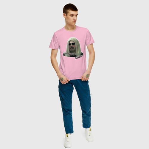 Мужская футболка хлопок Роза Робот Фото 01