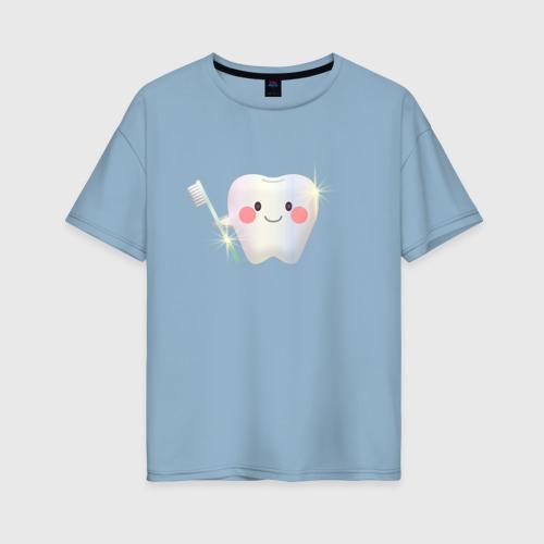 Женская футболка хлопок Oversize Чистота - залог здоровья! Фото 01