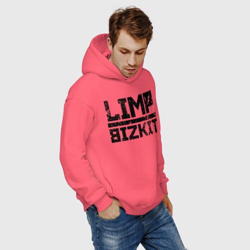 Мужское худи Oversize хлопок LIMP BIZKIT LOGO | ЛИМП БИЗКИТ ЛОГО (Z) Фото 01