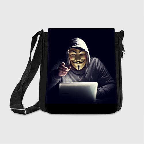 Сумка через плечо Хакер Анонимус Фото 01