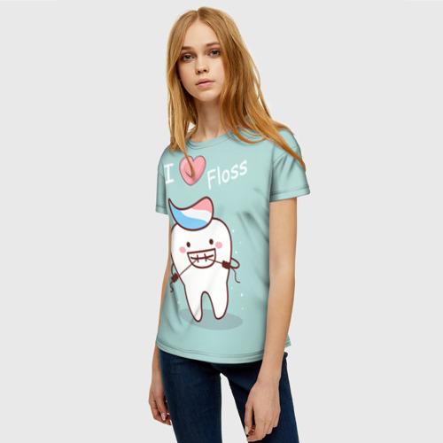 Женская футболка 3D Tooth Фото 01