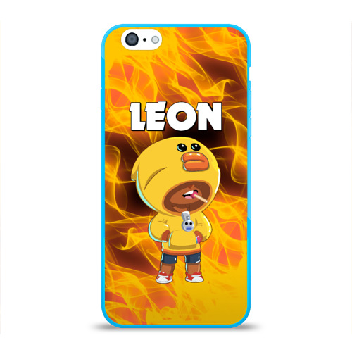 Чехол для iPhone 6/6S глянцевый BRAWL STARS SALLY LEON. Фото 01