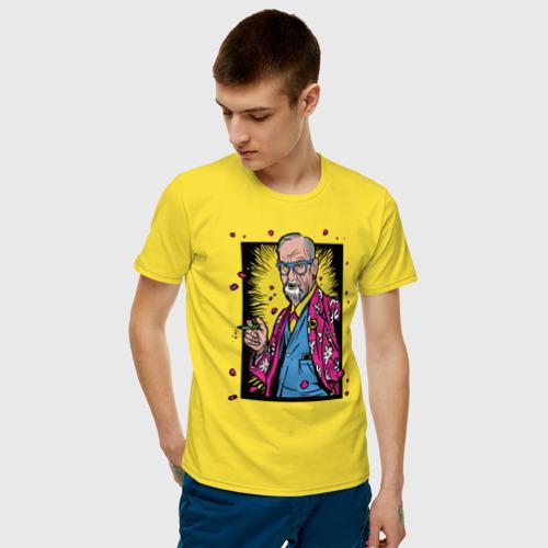 Мужская футболка хлопок Зигмунд Фрейд Фото 01