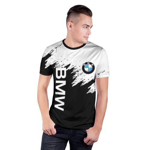 Мужская футболка 3D спортивная BMW | БМВ (Z) Фото 01