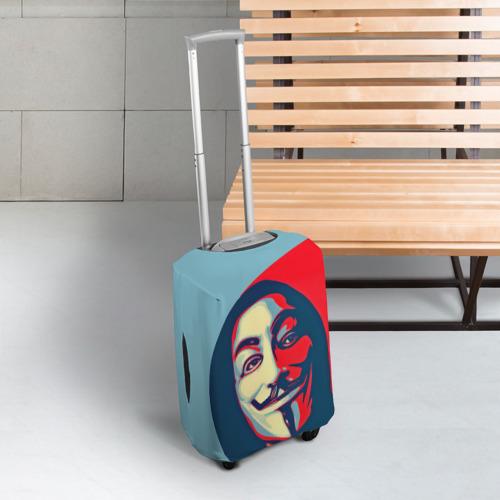 Чехол для чемодана 3D Гай Фокс Фото 01