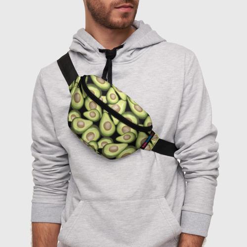 Поясная сумка 3D Avocado background Фото 01