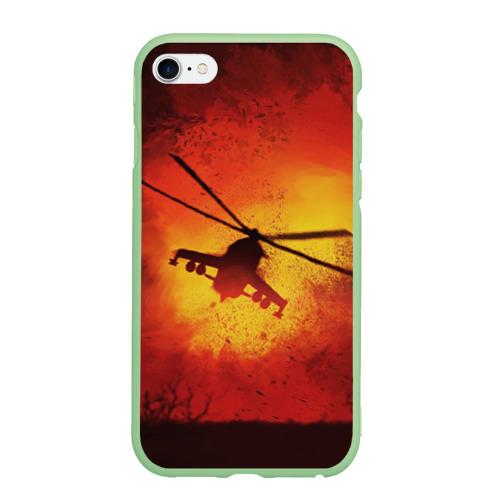 Чехол для iPhone 6Plus/6S Plus матовый Military helicopter Фото 01