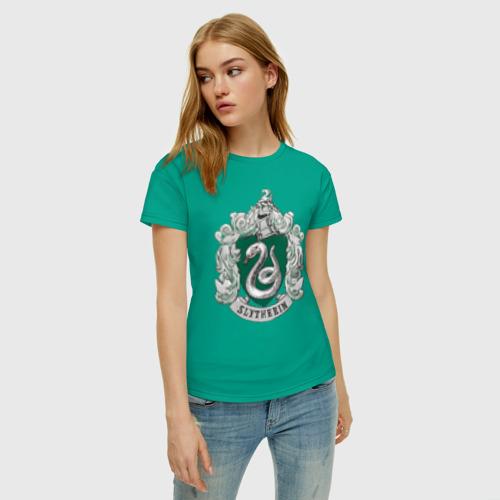 Женская футболка хлопок Coat of Slytherin Фото 01