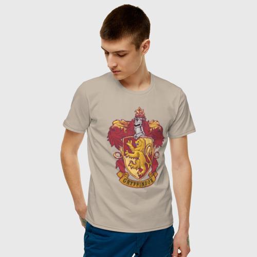Мужская футболка хлопок Coat of gryffindor Фото 01
