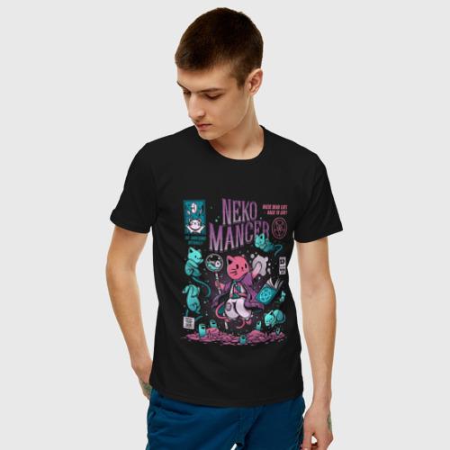Мужская футболка хлопок Кот некромант (CAT WIZARD) Фото 01
