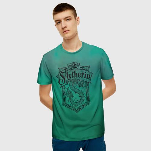 Мужская футболка 3D Coat of Slytherin Фото 01
