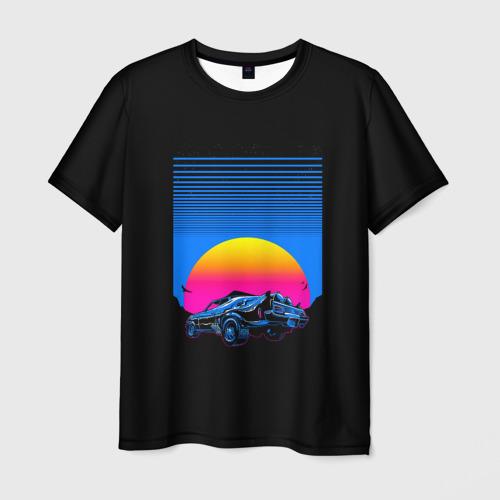 Мужская футболка 3D Retro Car Фото 01