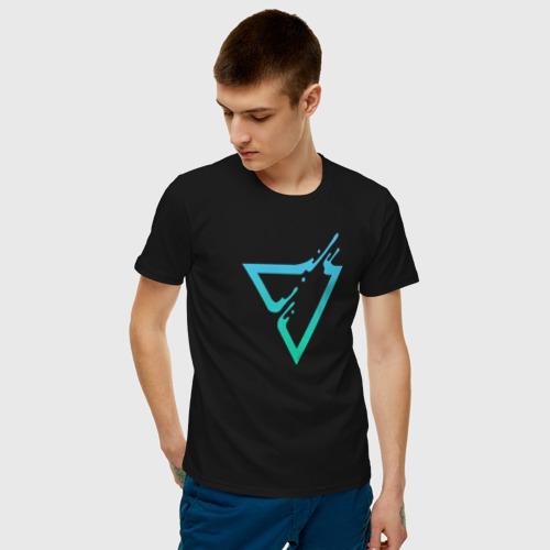 Мужская футболка хлопок Liquid Triangle Фото 01