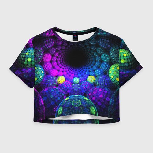 Женская футболка Crop-top 3D PSY NEON Фото 01