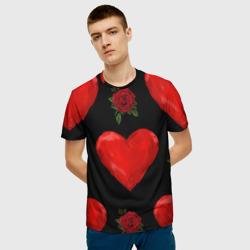 Сердца и розы
