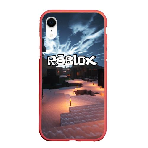 Чехол для iPhone XR матовый ROBLOX Фото 01