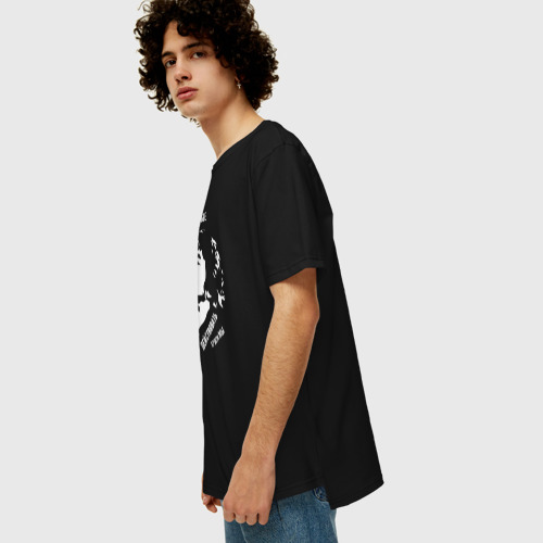 Мужская футболка хлопок Oversize Цой. Действовать будем Мы. W Фото 01