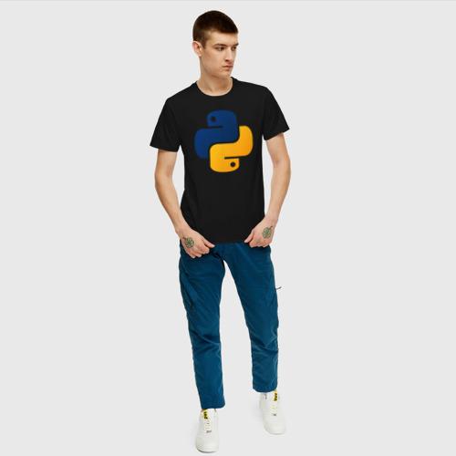 Мужская футболка хлопок Python Фото 01
