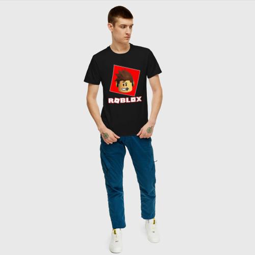 Мужская футболка хлопок ROBLOX за  1190 рублей в интернет магазине Принт виды с разных сторон