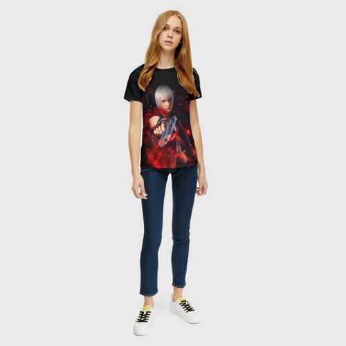 Женская футболка 3D DEVIL MAY CRY (DMC) за  1025 рублей в интернет магазине Принт виды с разных сторон