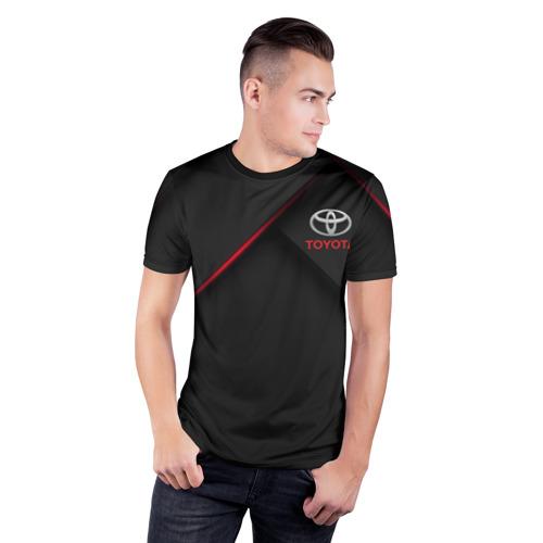 Мужская футболка 3D спортивная TOYOTA | ТОЁТА Фото 01