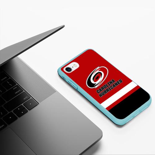 Чехол для iPhone 7/8 матовый Каролина Харрикейнз Фото 01