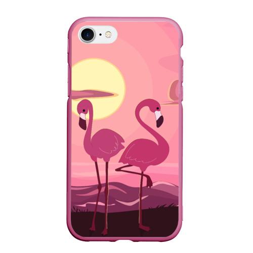 Чехол для iPhone 7/8 матовый фламинго Фото 01