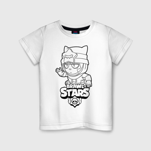 VseMayki.ru / Детская футболка хлопок Brawl Stars SANDY (раскраска) XS