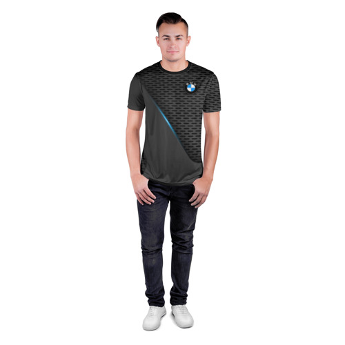 Мужская футболка 3D спортивная BMW TEXTURA | БМВ ТЕКСТУРА Фото 01