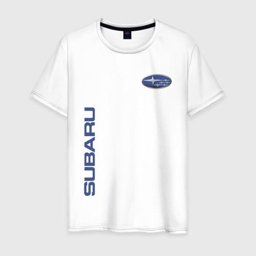 Мужская футболка хлопок SUBARU   СУБАРУ Фото 01
