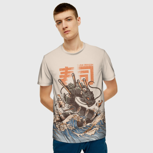 Мужская футболка 3D Sushi dragon Фото 01