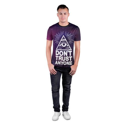 Мужская футболка 3D спортивная Don`t trust  anyone Фото 01